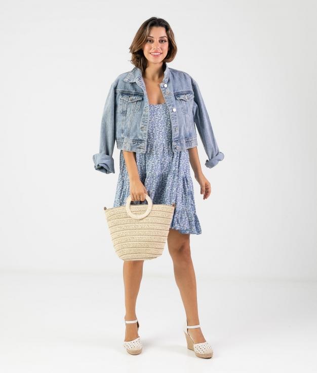 Vestido Malar - Blu