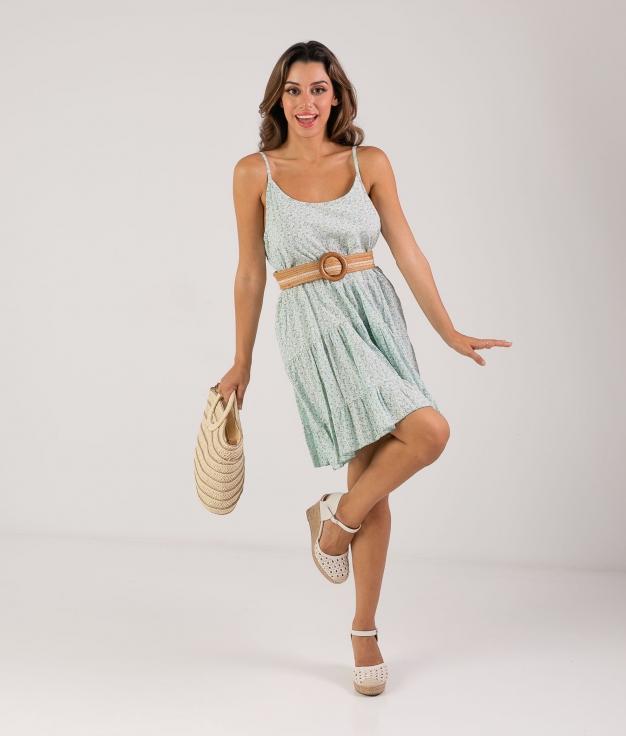 Vestido Malar - Aguamarina