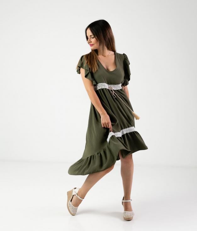 DRESS SINCHI - KHAKI