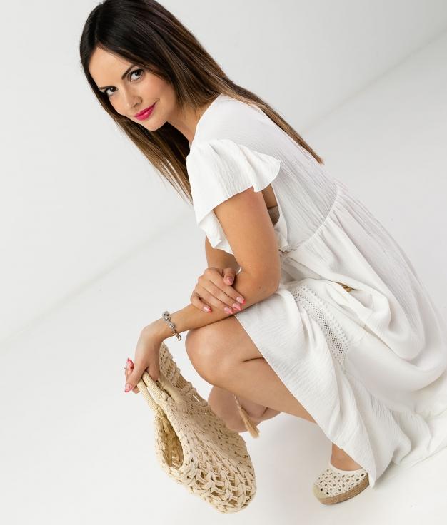 DRESS SINCHI - WHITE