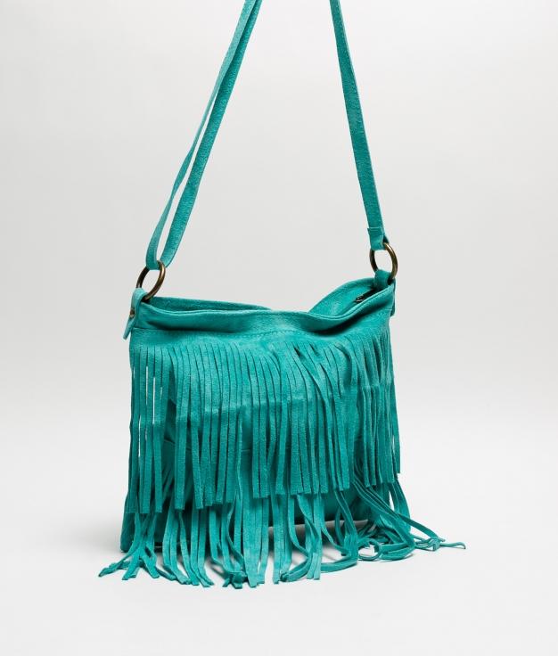 Bandolera Flecos - turquoise