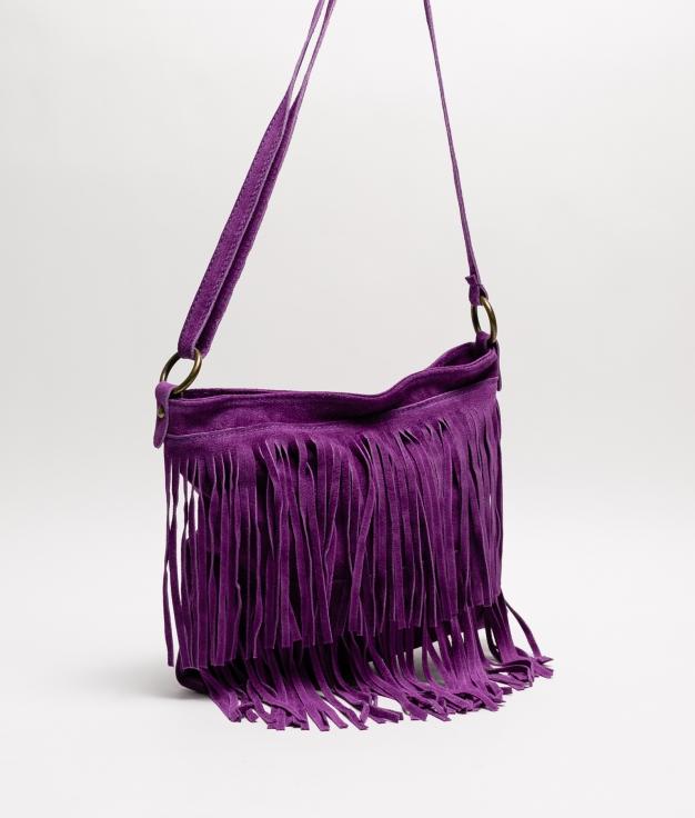 Bandolera Flecos - purple