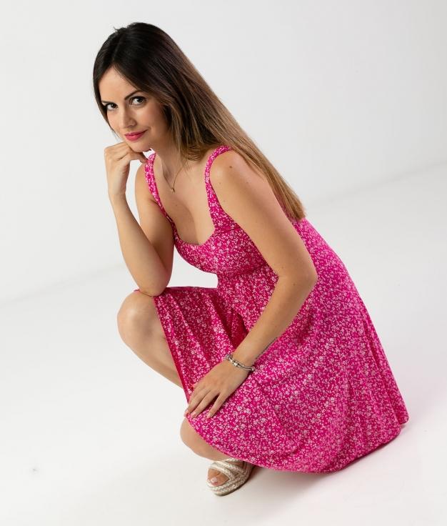 Vestido Kendra - Fuchsia