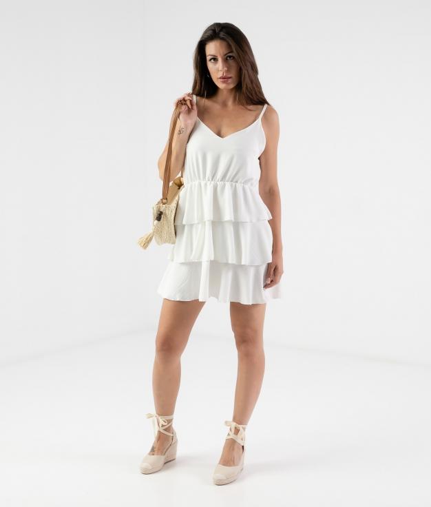 DRESS TOGO - WHITE