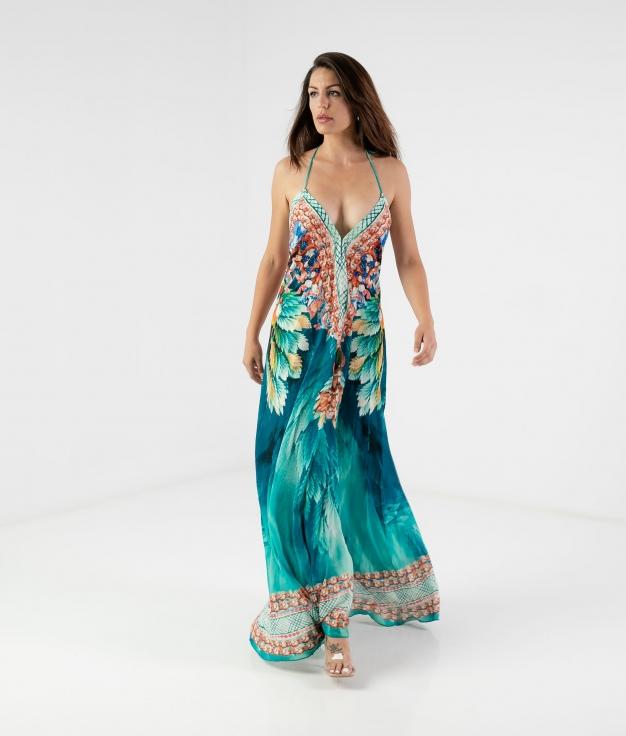 Dress Zenca - Turquoise