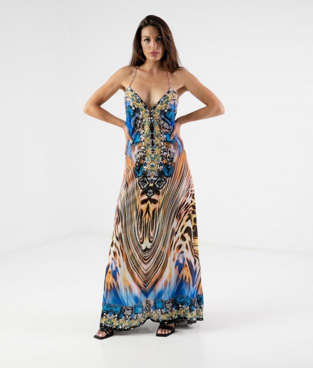 Vestido Zenca - Azul Klein
