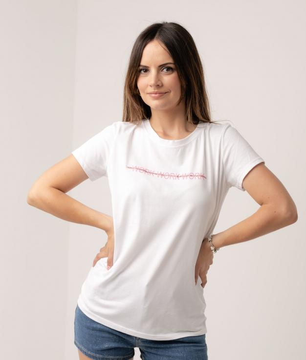 Camiseta Cierge - Work Rosa