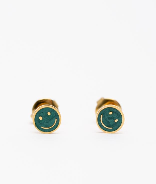 PENDIENTE SMILE - GREEN
