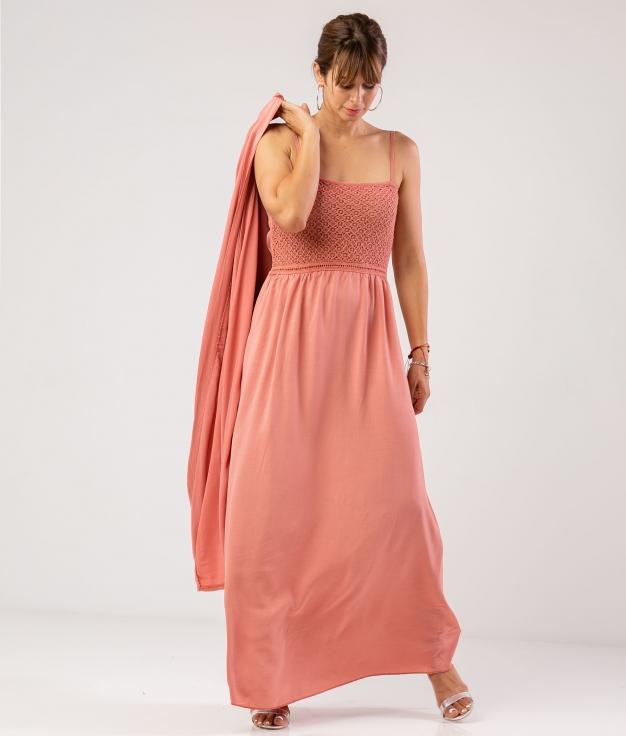 Vestido Tebrelo - Coral