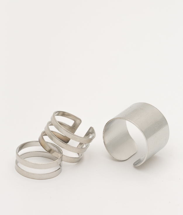 PACK ANILLOS DRINSE - SILVER