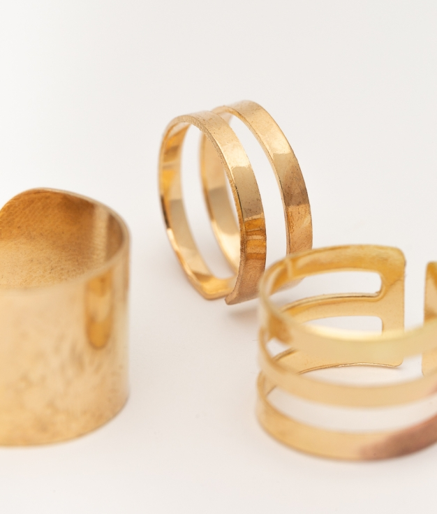 PACK ANILLOS DRINSE - GOLD