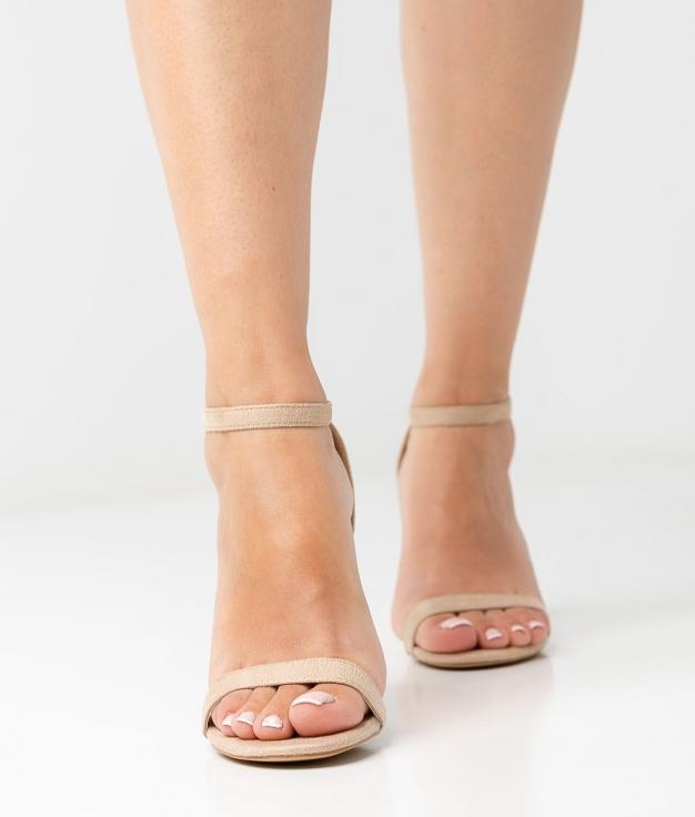 Sandália de Salto Velia - Bege