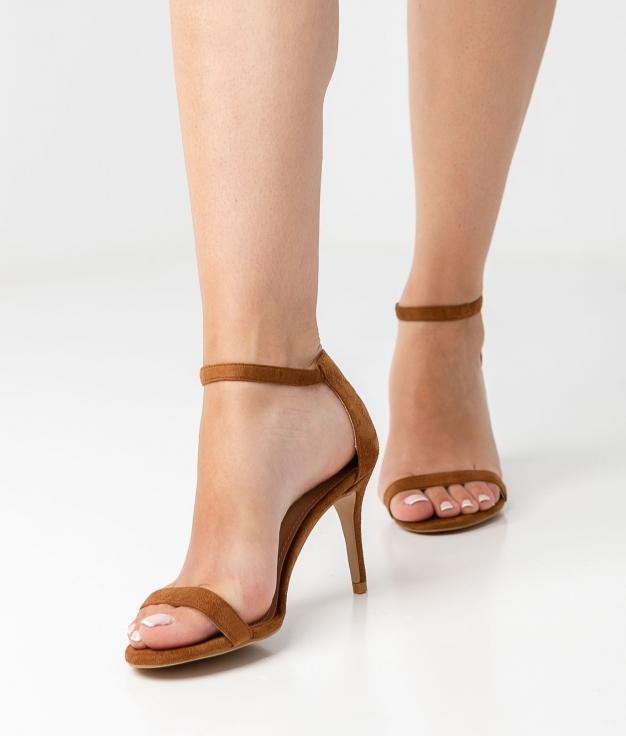 Sandália de Salto Velia - Marrom