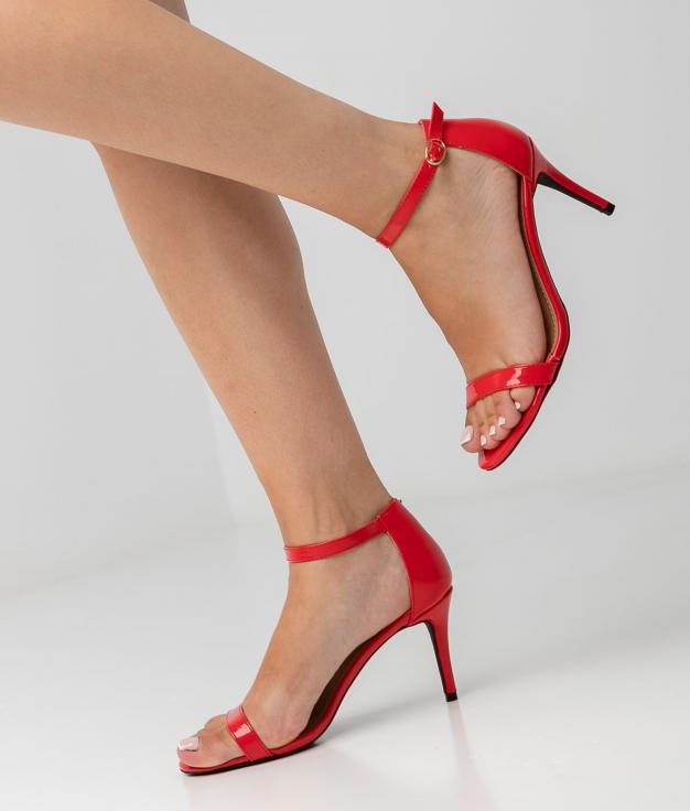 Sandália de Salto Perlia - Vermelho