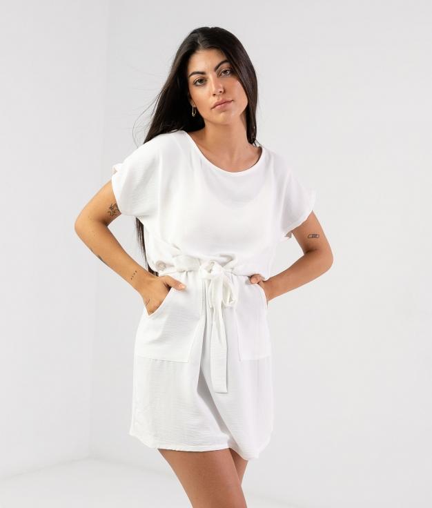 Vestido Tremer - Blanc