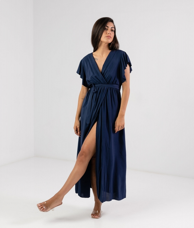 Vestido Sibila - Bleu Marine