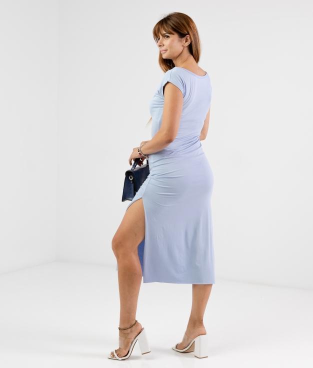 Vestido Llanes - Liso Azul Claro