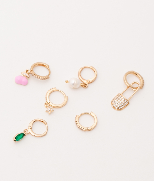 PACK BOUCLE D'OREILLE GRILE - OR