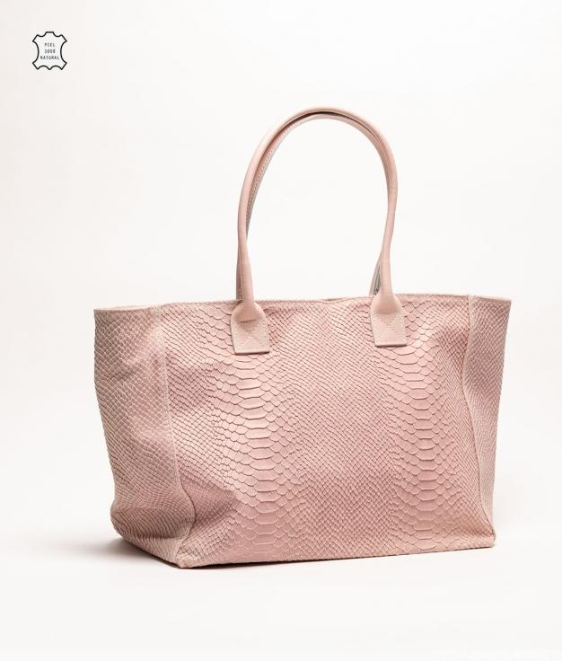 Bolso de piel Adan - rosa