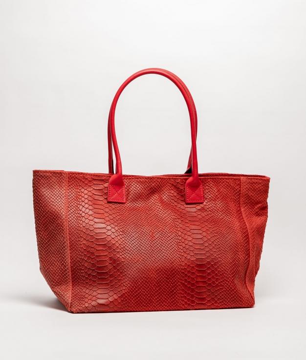 Bolso de piel Adan - roig