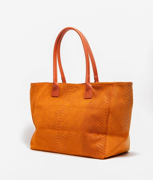 Bolso de piel Adan - orange