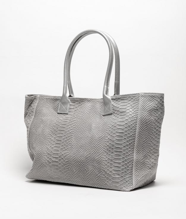 Bolso de piel Adan - grigio