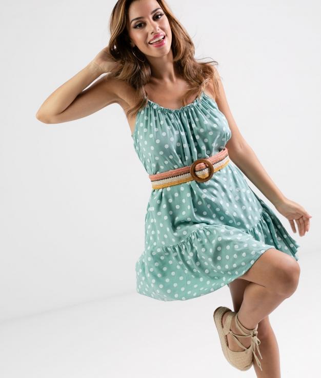 Vestido Lucia - Aguamarina