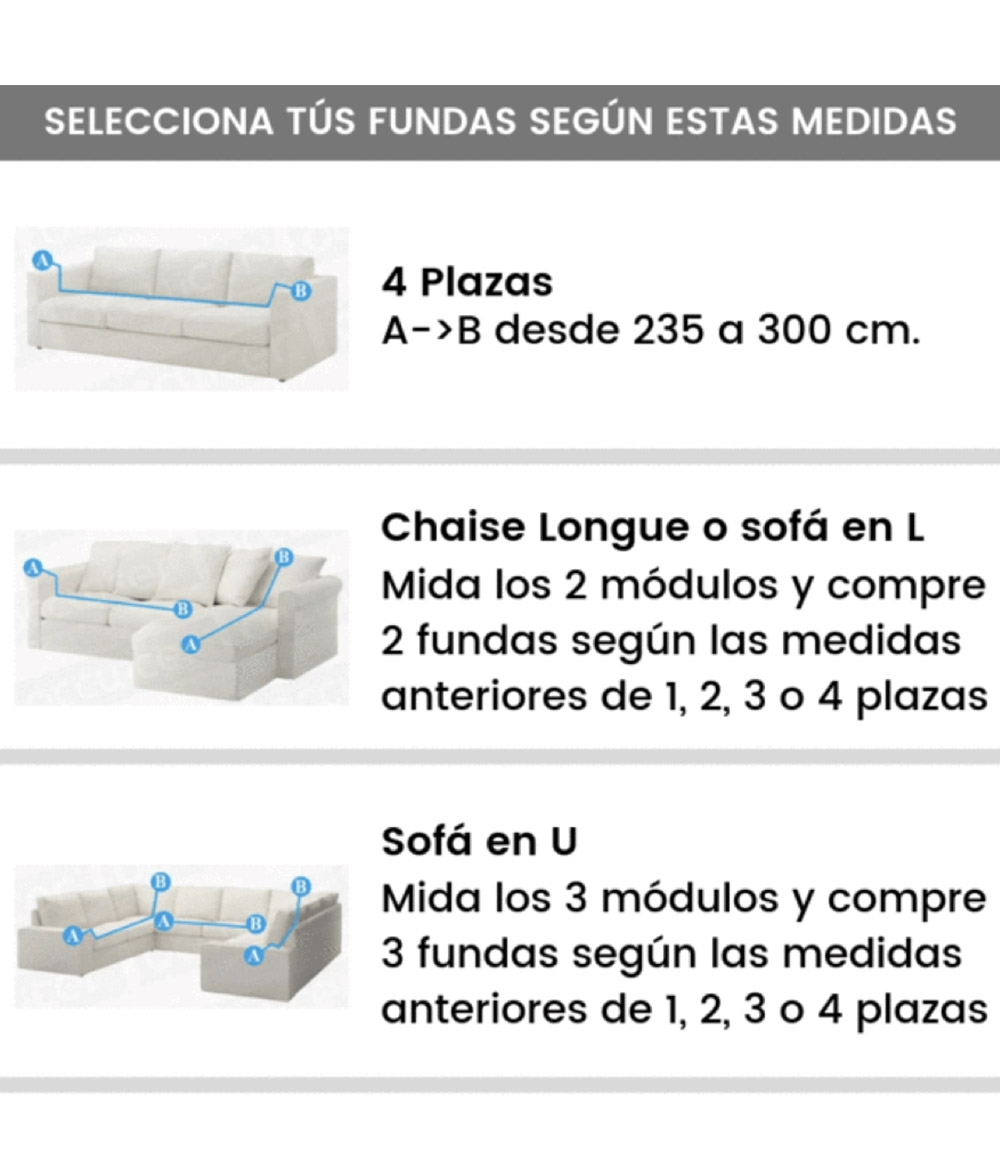 Funda Sofá Bioelástica 3 Plaza - Rojo