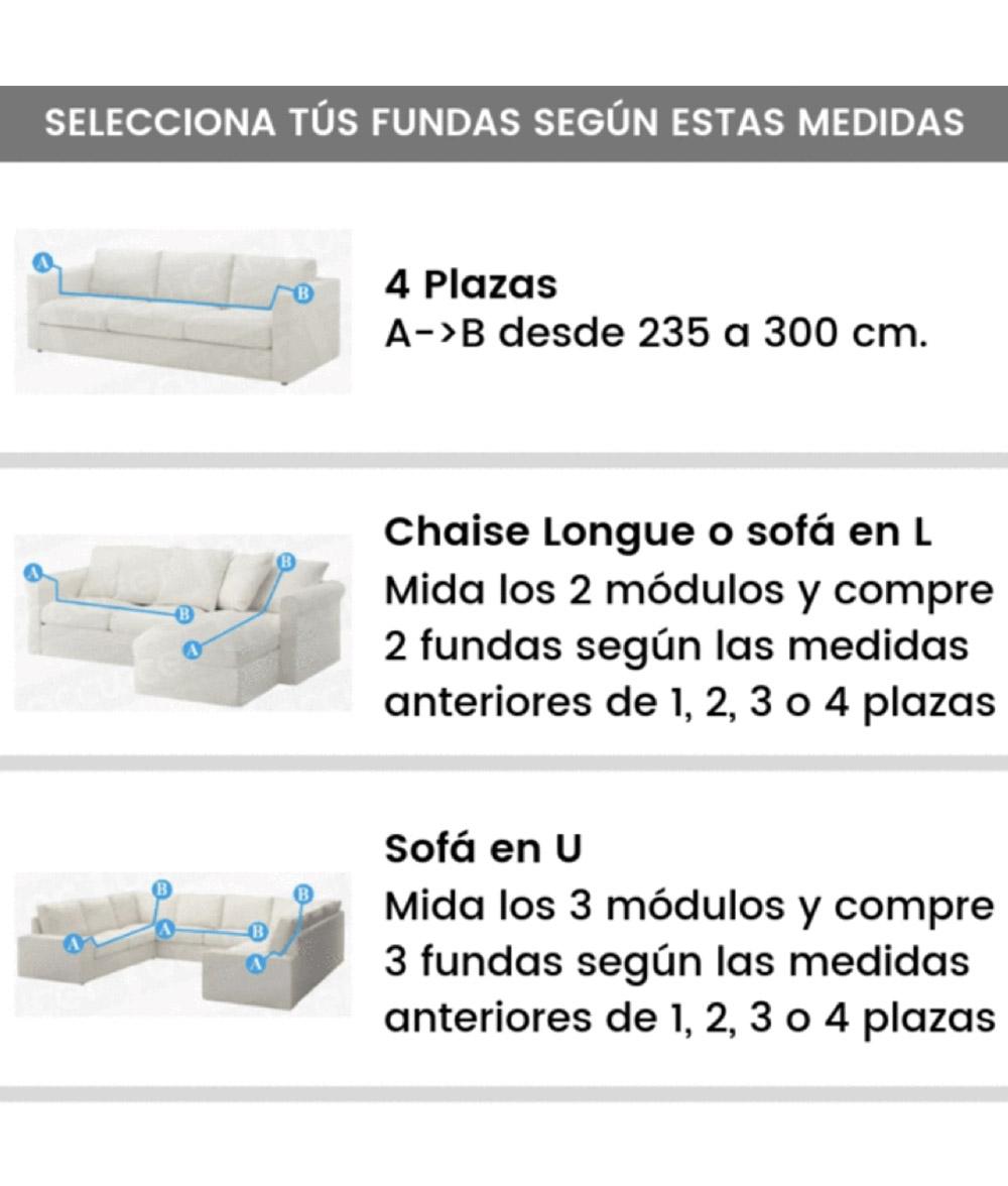 Funda Sofá Bioelástica 4 Plaza - Azul