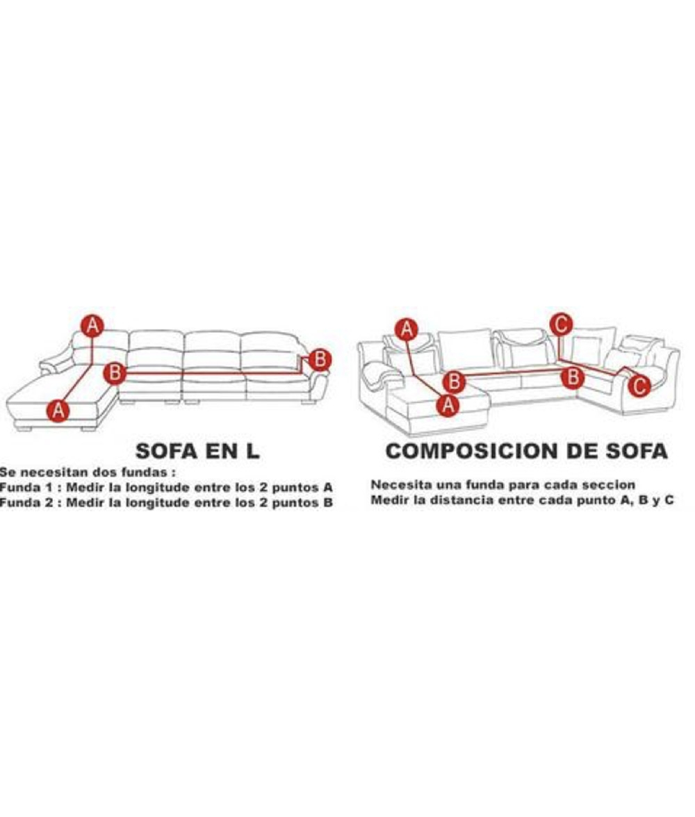Funda Sofá Bioelástica 4 Plaza - Naranja