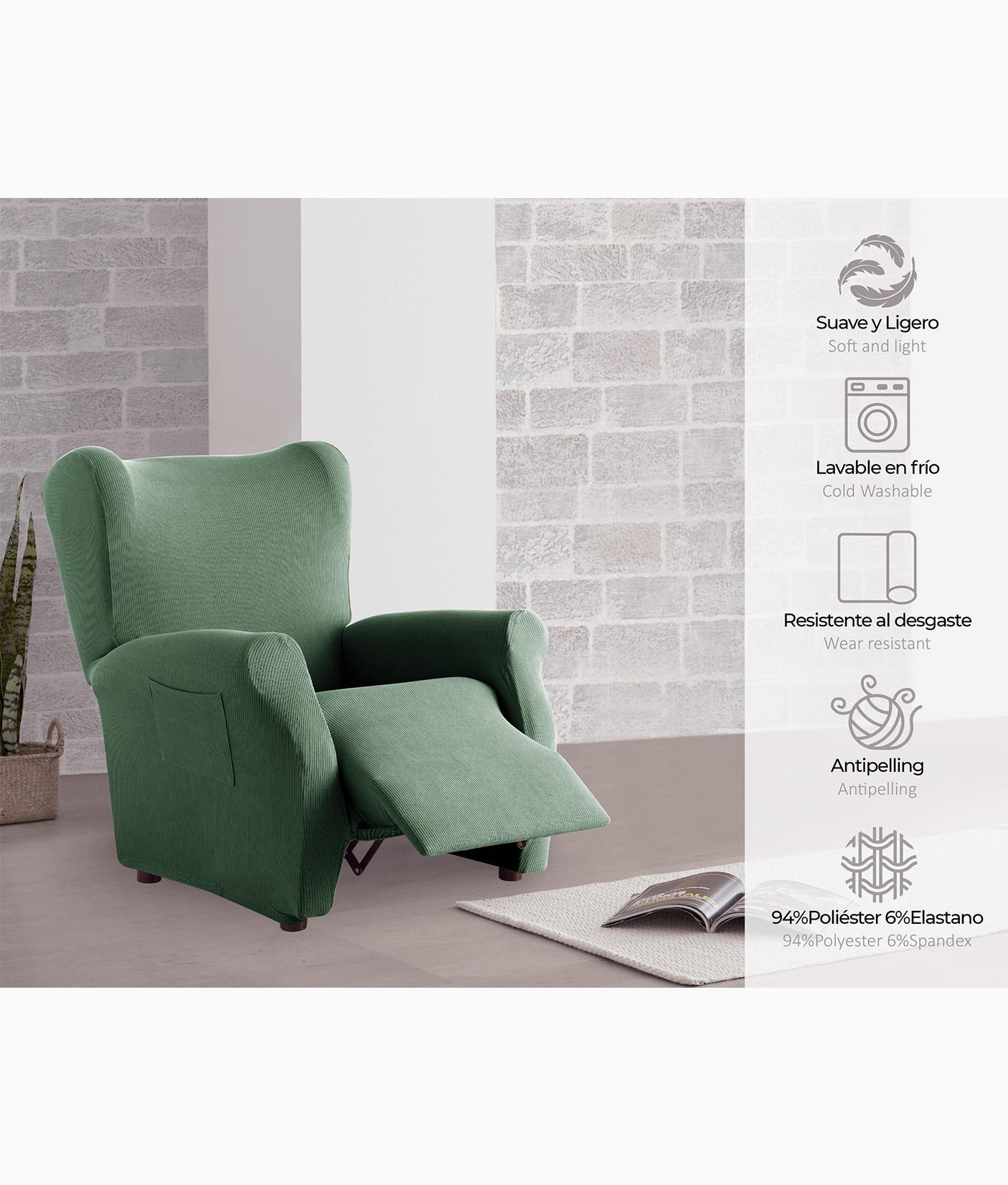 Funda Sofá Bielástica Relax - Verde