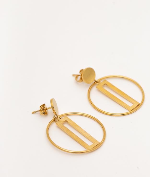 JISOLI EARRINGS - GOLD