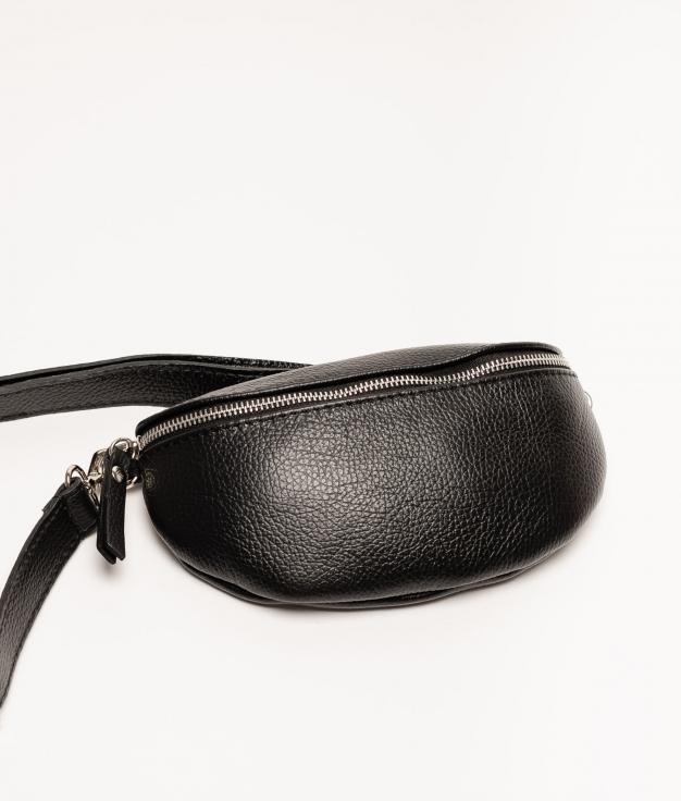 Rinonera de piel Erica - noir