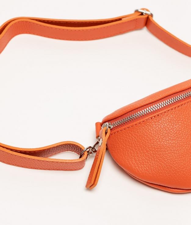 Rinonera de piel Erica - naranja