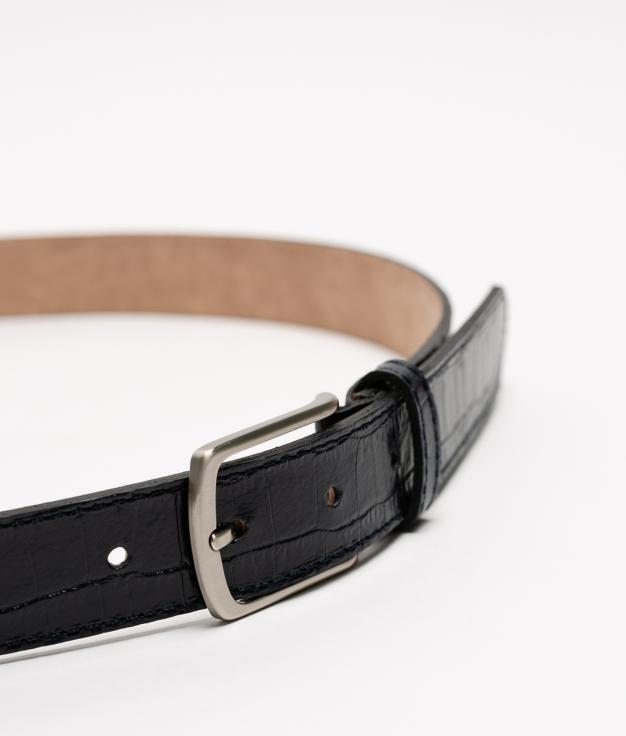 Cinturón de piel Annie - preto