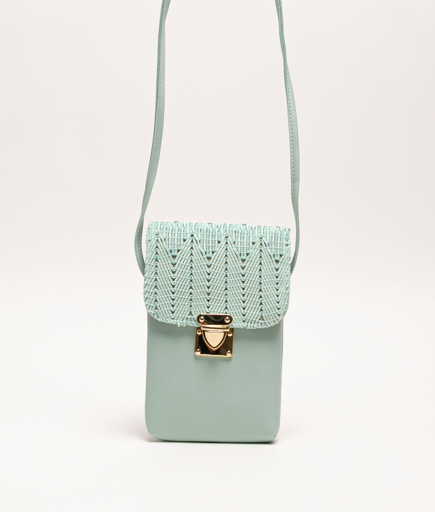 YES MOBILE HOLDER - WATER GREEN