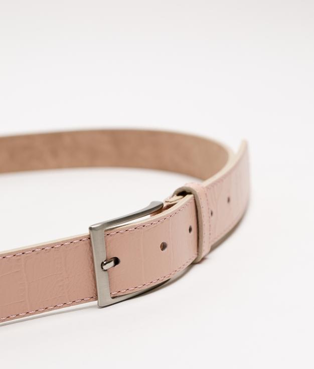 Cinturón de piel Annie - rosa