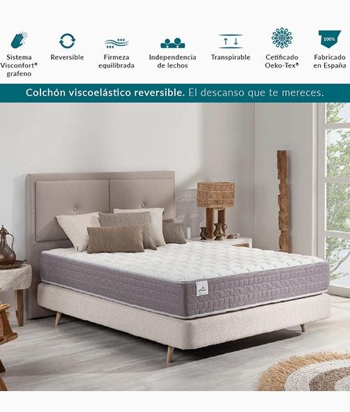 COLCHÓN VISCO REVERSIBLE BERNIA H21 DONDESCANSO - 200 CM
