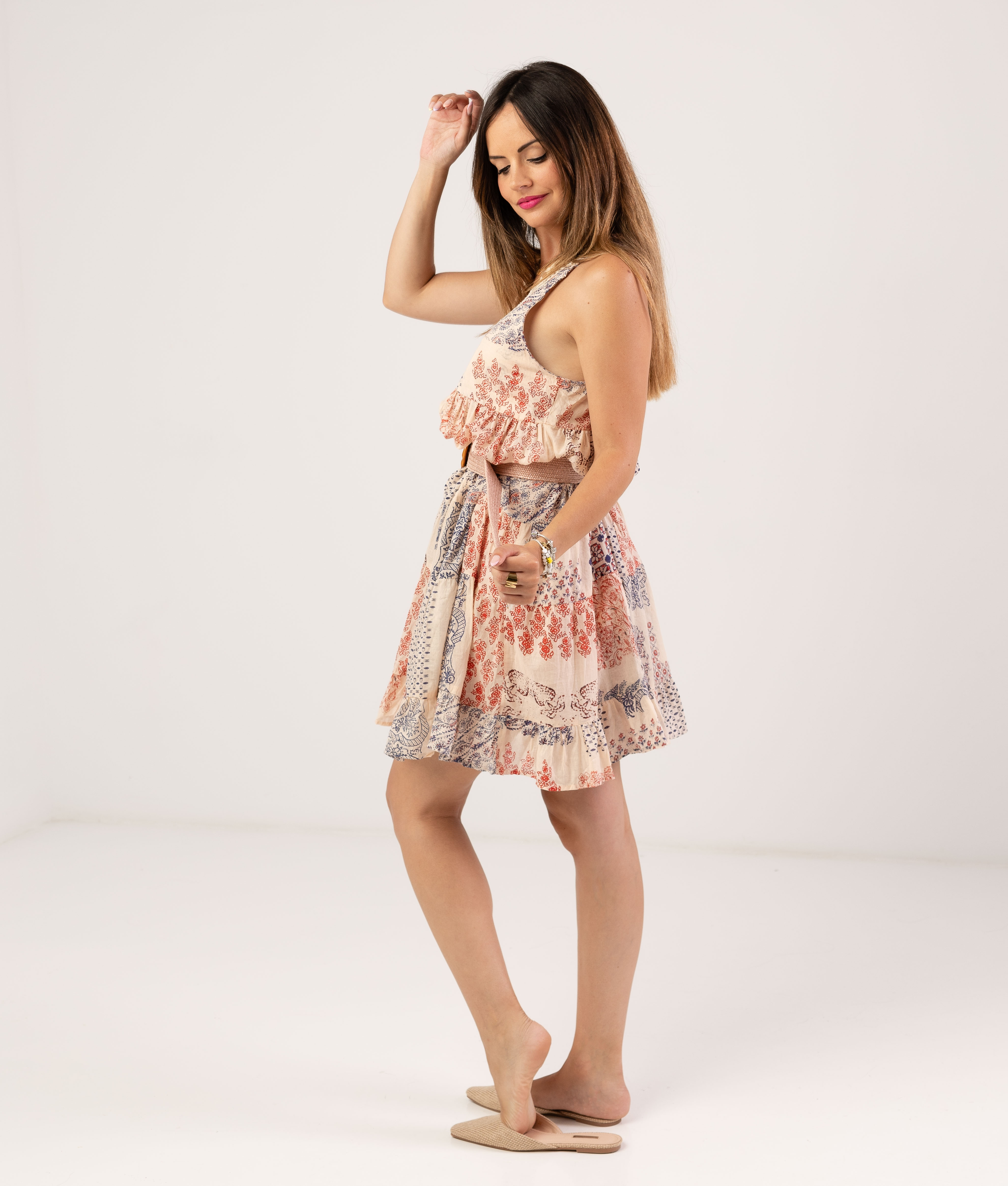 IMALA DRESS - BEIGE