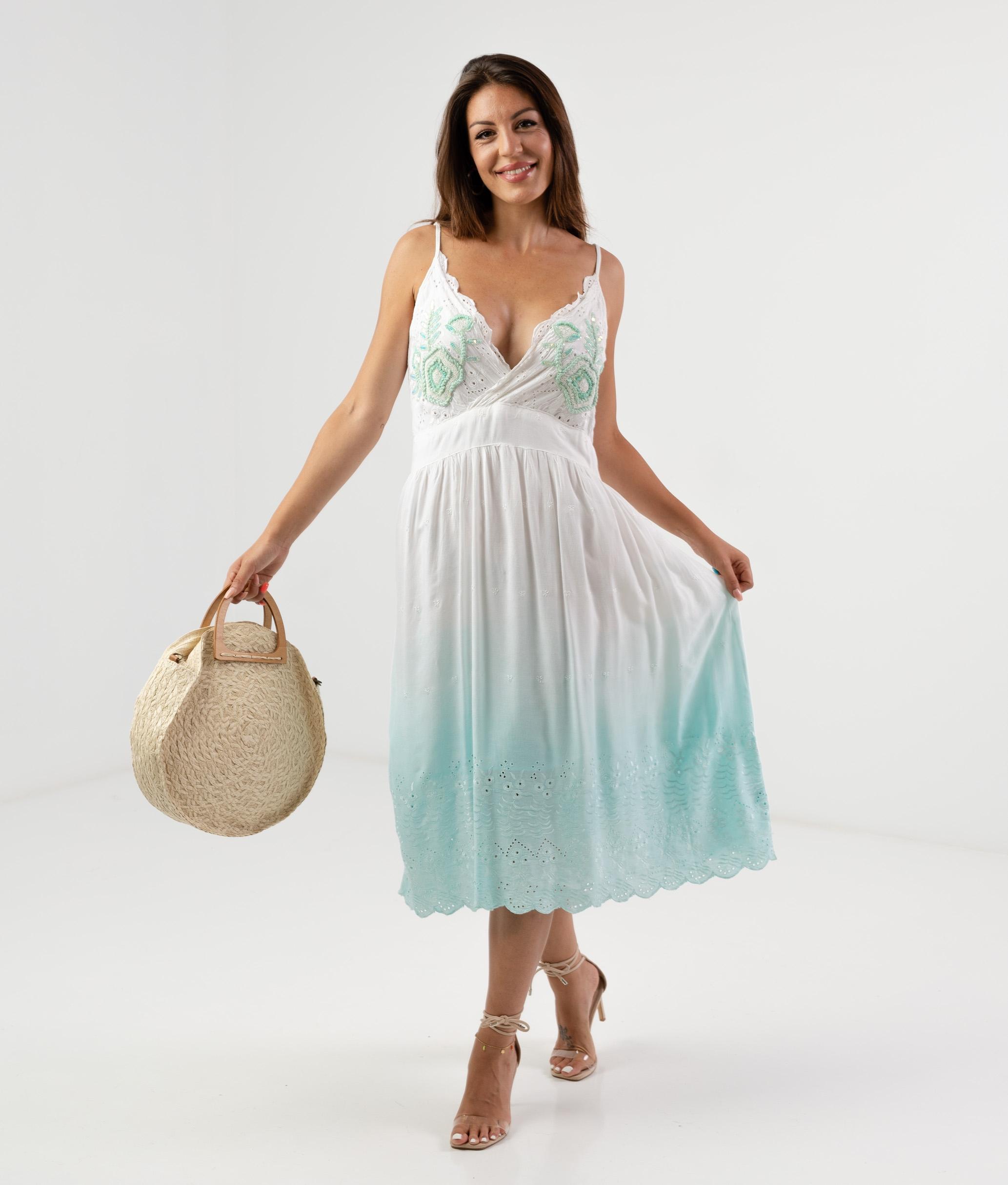 TERBRE DRESS - BLUE