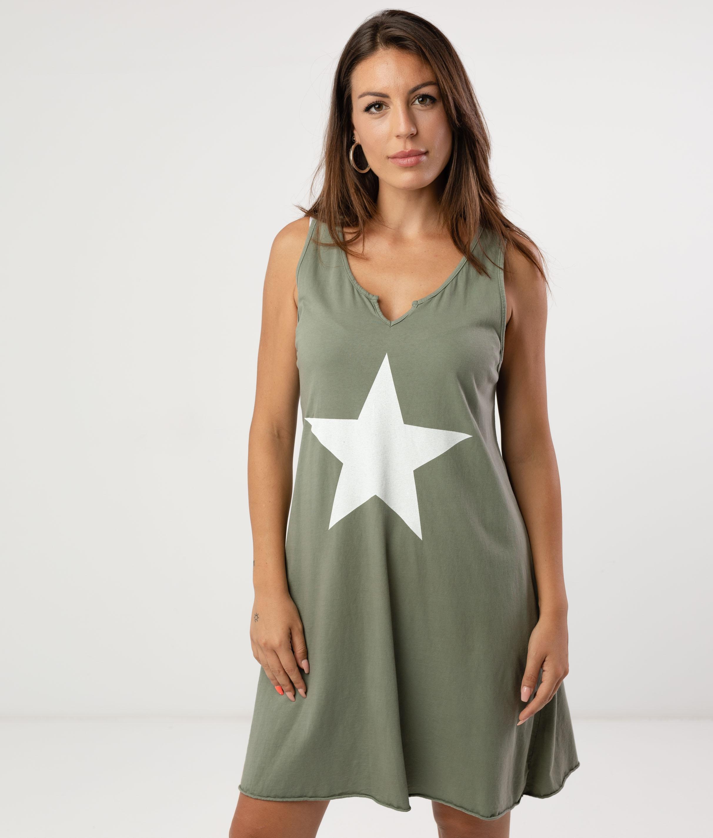 MENDRE DRESS - KHAKI