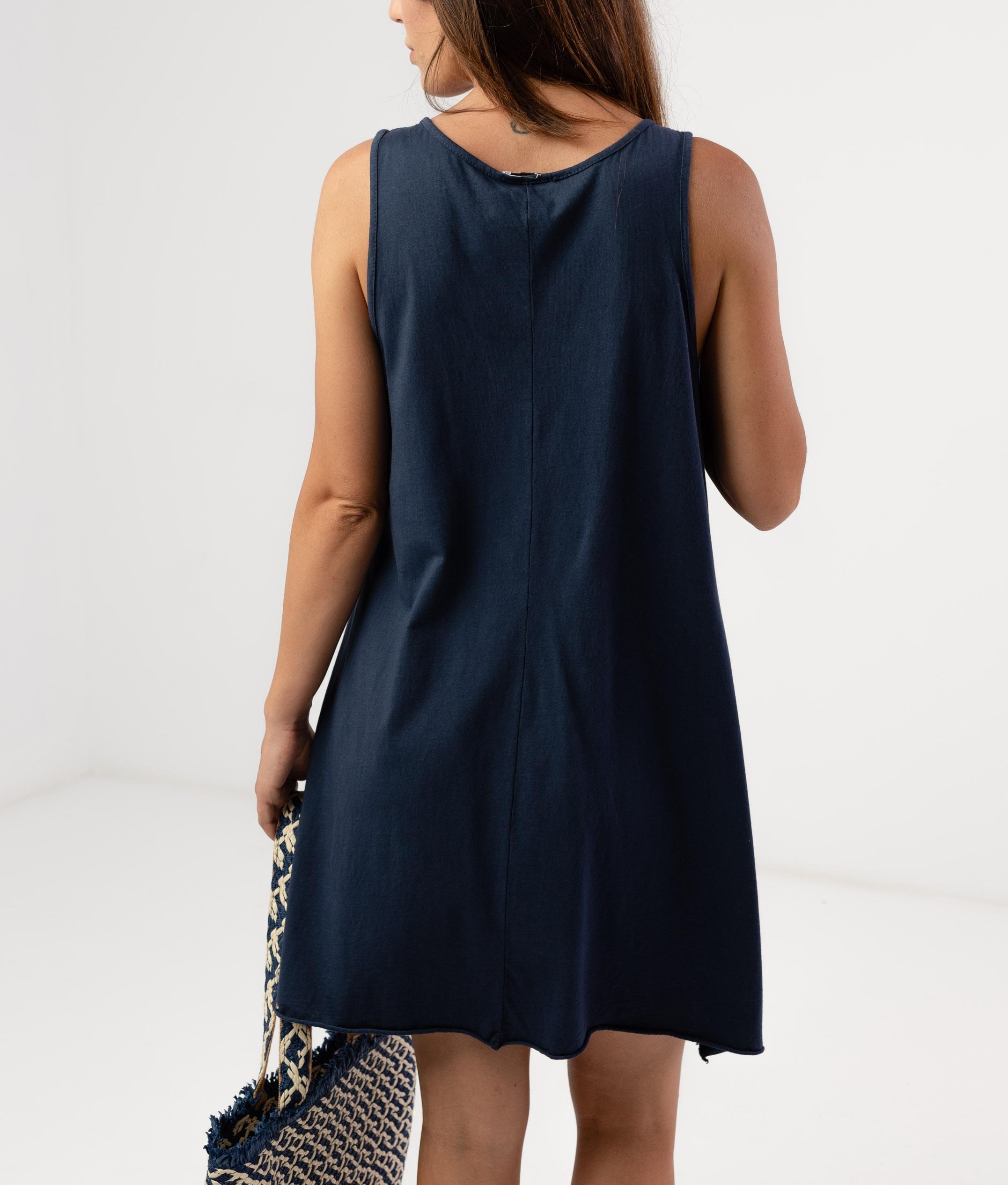 MENDRE DRESS - DARK BLUE