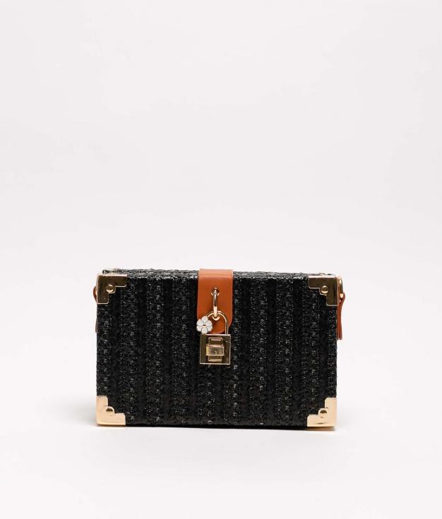 cartera de mano jaca - negro