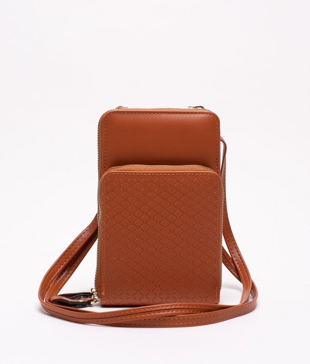 ZEI MOBILE HOLDER - LEATHER