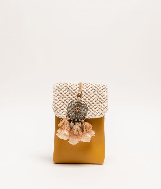 porte-mobile dreamcatcher - moutarde
