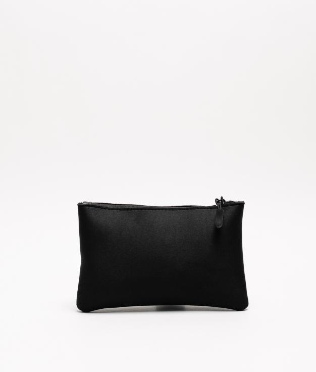 neoprene coin purse - black