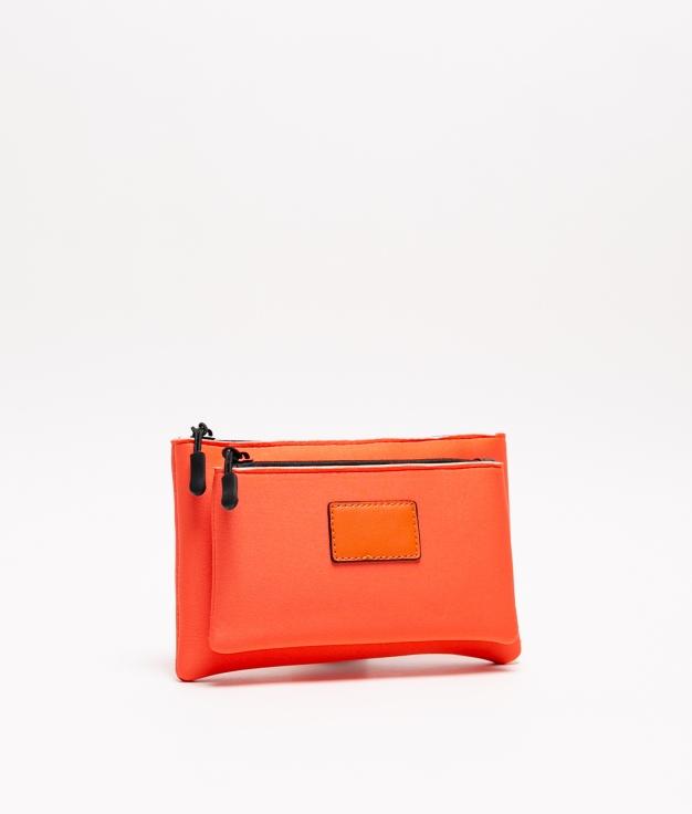 porte-monnaie en néoprène - orange
