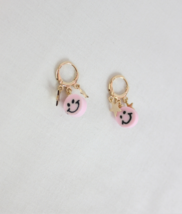 BOUCLE D'OREILLE SHELLY - ROSE