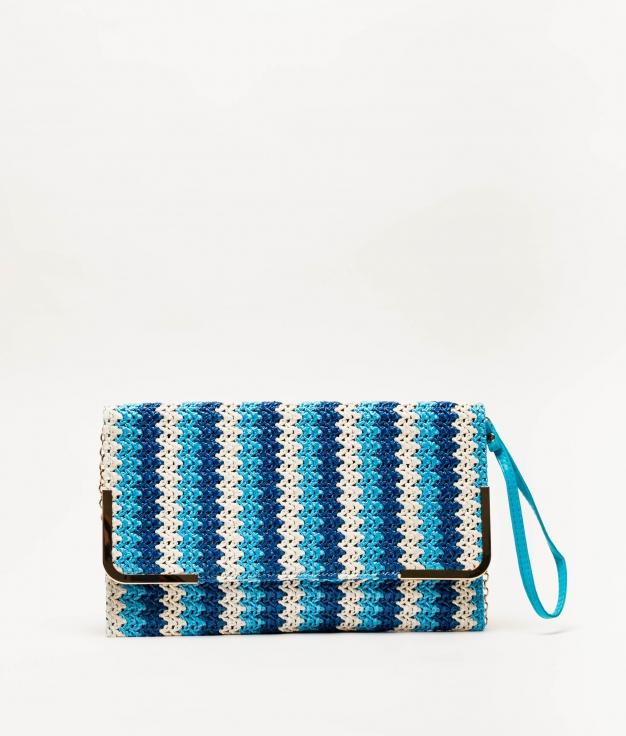 bolso de mano logi - azul
