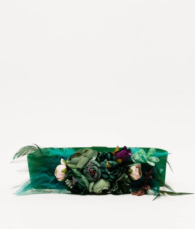 MYA BELT - GREEN ( FEATHERS)